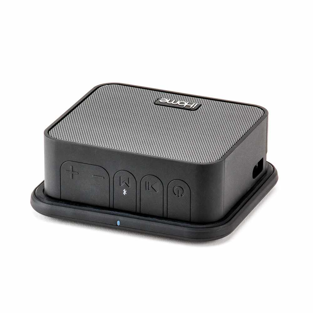 Portable Bluetooth Speaker with Qi Wireless Charging Black